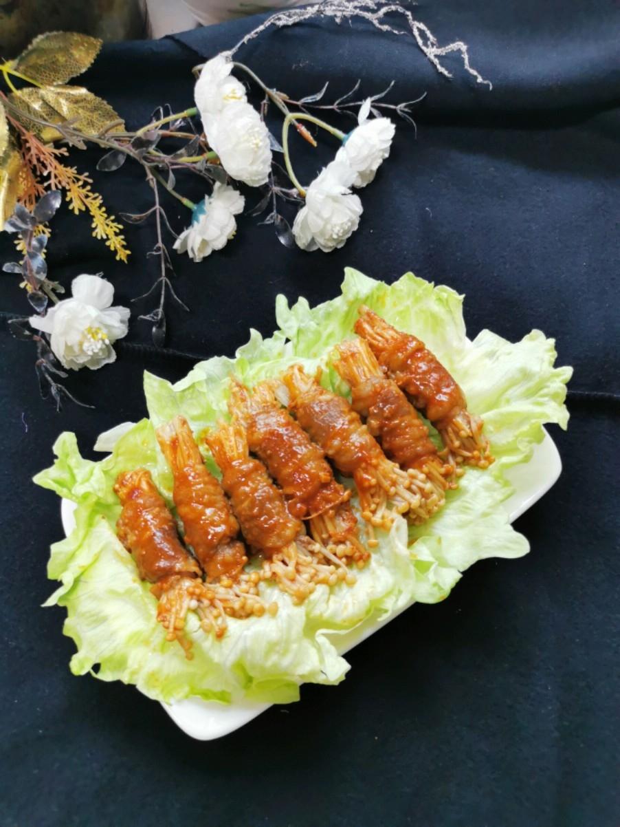 肥牛金针菇卷的做法