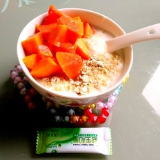 木瓜麦片酸奶