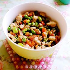 甜豆炒鸡肉丁