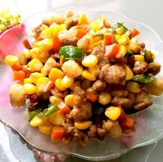 玉米炒肉丁