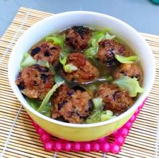 香菇肉丸青菜汤