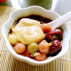 双红荷包蛋煮彩色汤圆