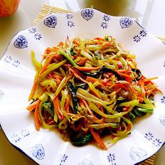 胡萝卜炒莴笋丝