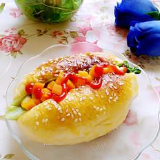 玉米胡萝卜夹心面包
