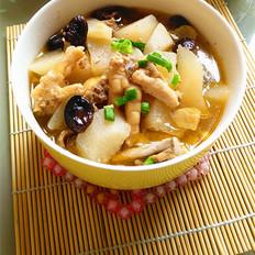 香菇萝卜鸡汤
