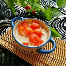 冰糖炖木瓜牛奶