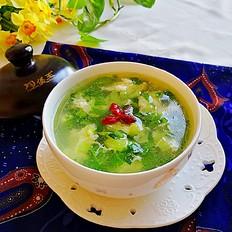 砂锅版芥菜蛋花汤