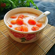 蒸木瓜牛奶甜汤