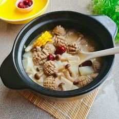 砂锅牛肉丸香芋蟹黄菇煲