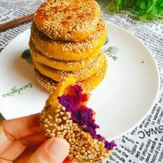 紫薯馅南瓜糯米饼