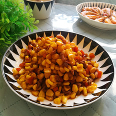玉米腰果炒肉丁
