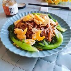 鸡蛋青菜拌荞麦面