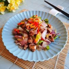 双椒洋葱炒孜然羊肉