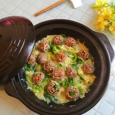 白萝卜丝牛肉丸煲