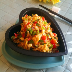 双椒豆腐炒鸡蛋
