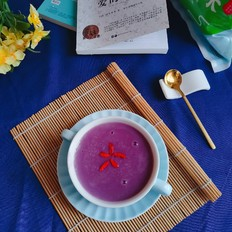 紫薯大米牛奶浓汤