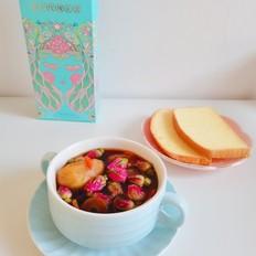 苹果红枣玫瑰花茶