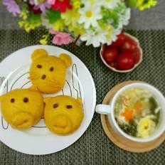 南瓜猪猪豆沙包
