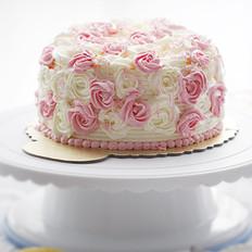 玫瑰花奶油蛋糕
