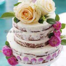 黑森林鲜花裸蛋糕