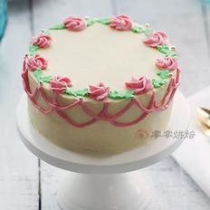 双重口味裱花蛋糕