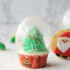 圣诞树水晶球蛋糕