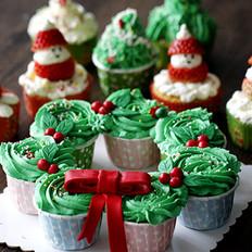 圣诞节海绵纸杯蛋糕