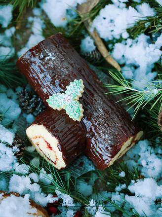 圣诞节树桩蛋糕卷的做法