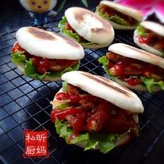 中式蜜汁鸡翅汉堡