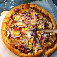 自制肉酱披萨的做法