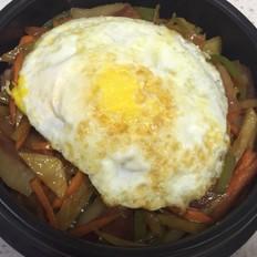 石锅拌饭(土豆培根)