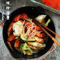 竹荪煨珍宝蟹