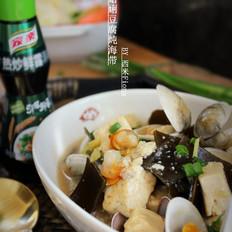 蛤蜊豆腐炖海带