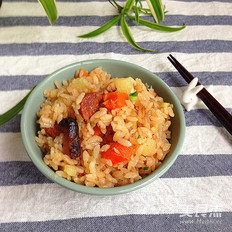 胡萝卜土豆双腊饭