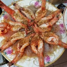 蒜蓉粉丝蒸开边虾