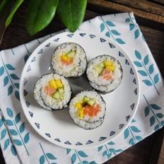 藜麦三文鱼寿司卷