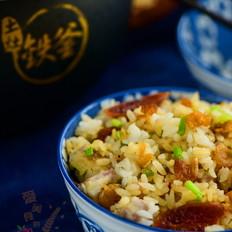#铁釜烧饭就是香#香芋腊肠饭的做法