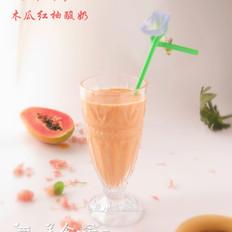 木瓜红柚酸奶