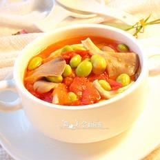 猪肚菇毛豆汤