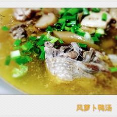 风萝卜鸭汤