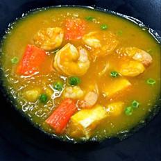 南瓜海鲜浓汤羹