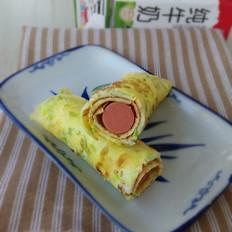快手早餐—鸭蛋饼卷火腿肠