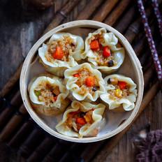 香菇素什锦烧麦(饺子皮版)