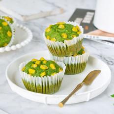 纯素菠菜玉米蛋糕