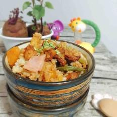 红薯鸡肉刀豆焖饭