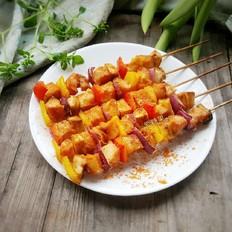 香烤彩椒鸡肉串