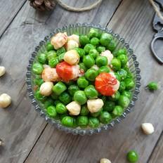 豌豆榛子小龙虾球