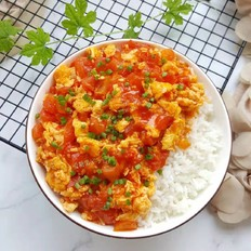 番茄鸡蛋盖浇饭