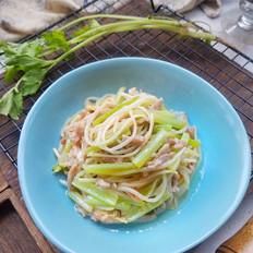 芹菜豆芽炒肉丝