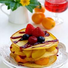 蓝莓水果小煎饼